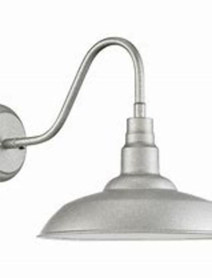 Galvanized Exterior Wall Mount Light-Large
