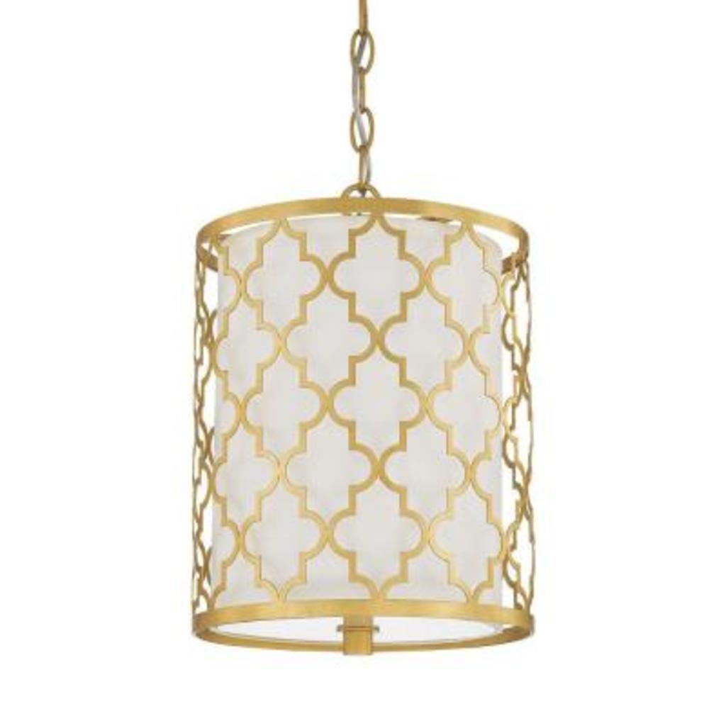 Capital Ellis gold 2 light pendant #4544CG-579