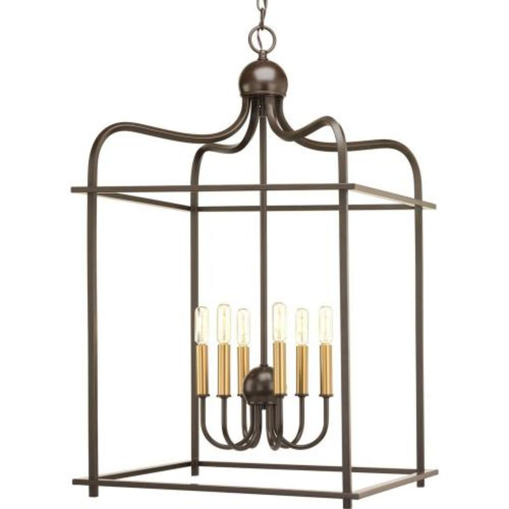 Progress Lighting Chandelier, Brushed Nickel #P500037-009