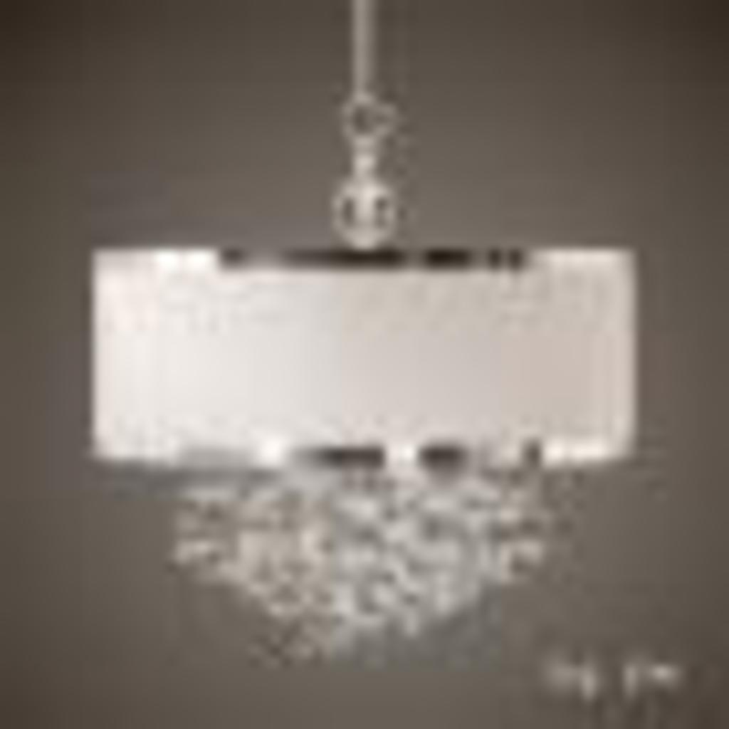 """Uttermost 21908 Fascination 3-Light Hanging Shade, 22.8"""" L W x 22.0"""" D, Off-White"""