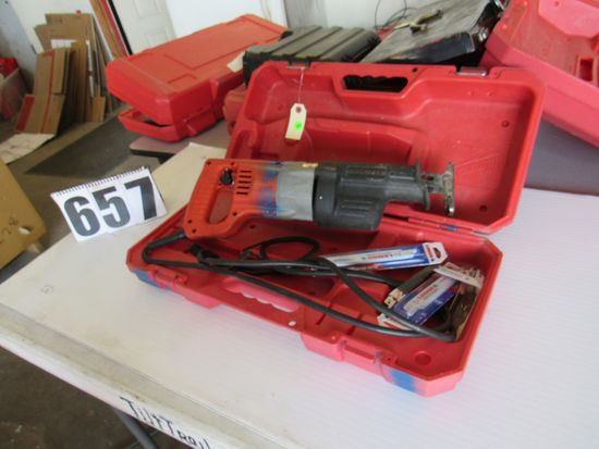 Milwaukee corded saws all with extra blades plastic case