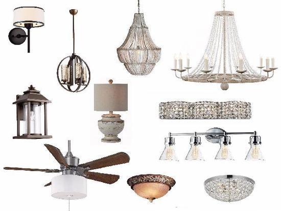 Ceiling Fans, Light Fixtures, Halogen/LED bulbs