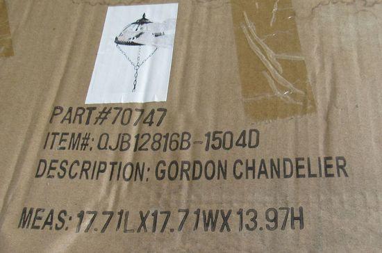 Forty West Designs #70747 (Item#QJB12816B-1504D) Gordon Chandelier