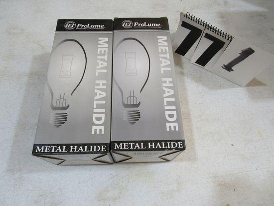 Halco lighting ProLume metal hailide lamps MH400/U 108208 M59/E large bulbs for enclosed fixtures