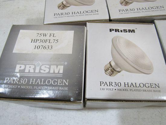 Prism Par 30 75 watt halogen bulbs good packaging