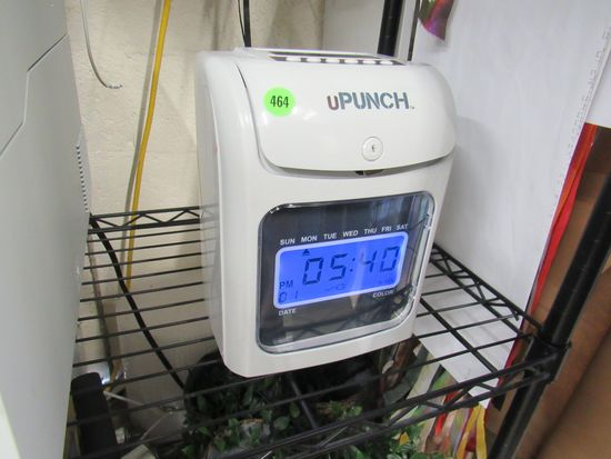U Punch Electronic Time Clock with Card Racks