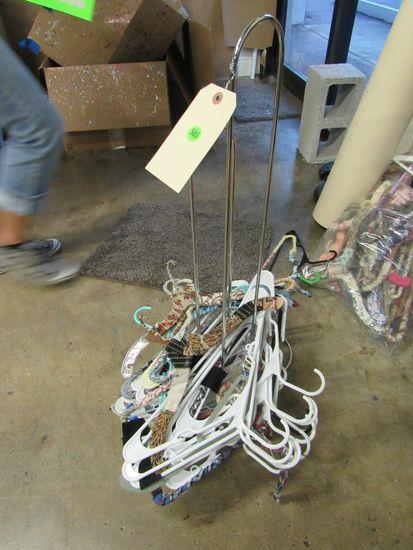 chrome empty hanger rack