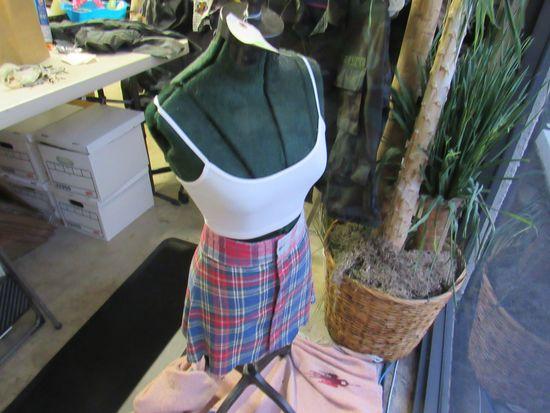 dressmaker mannequin on wheels wrought iron 4 feet