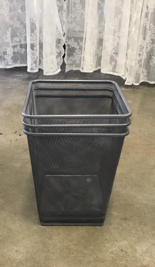 metal garbage cans