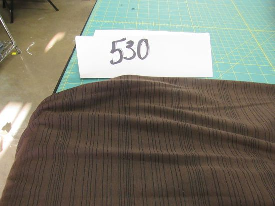Striped Brown Cotton Jersey (3 bolts)  selling by the yard