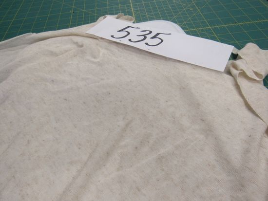 Cream tripple textile , tshirt material (2 1/2 bolts)  selling by the yard