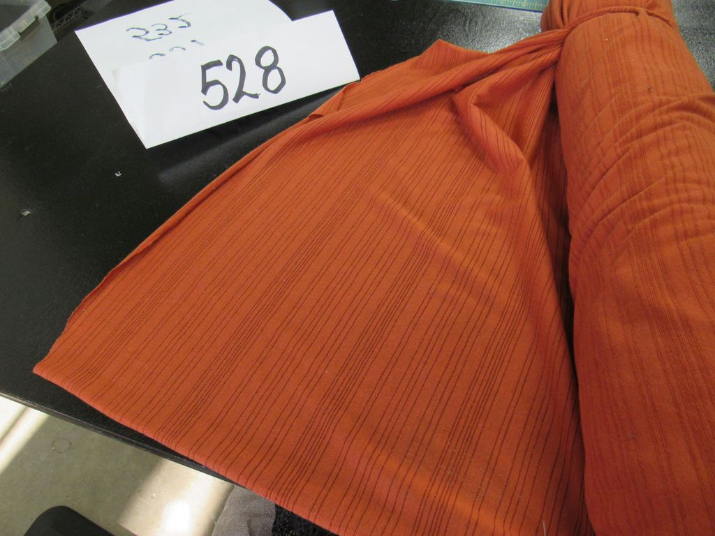 striped pumpkin orange fabric (2 1/4 bolts) selling by the yard