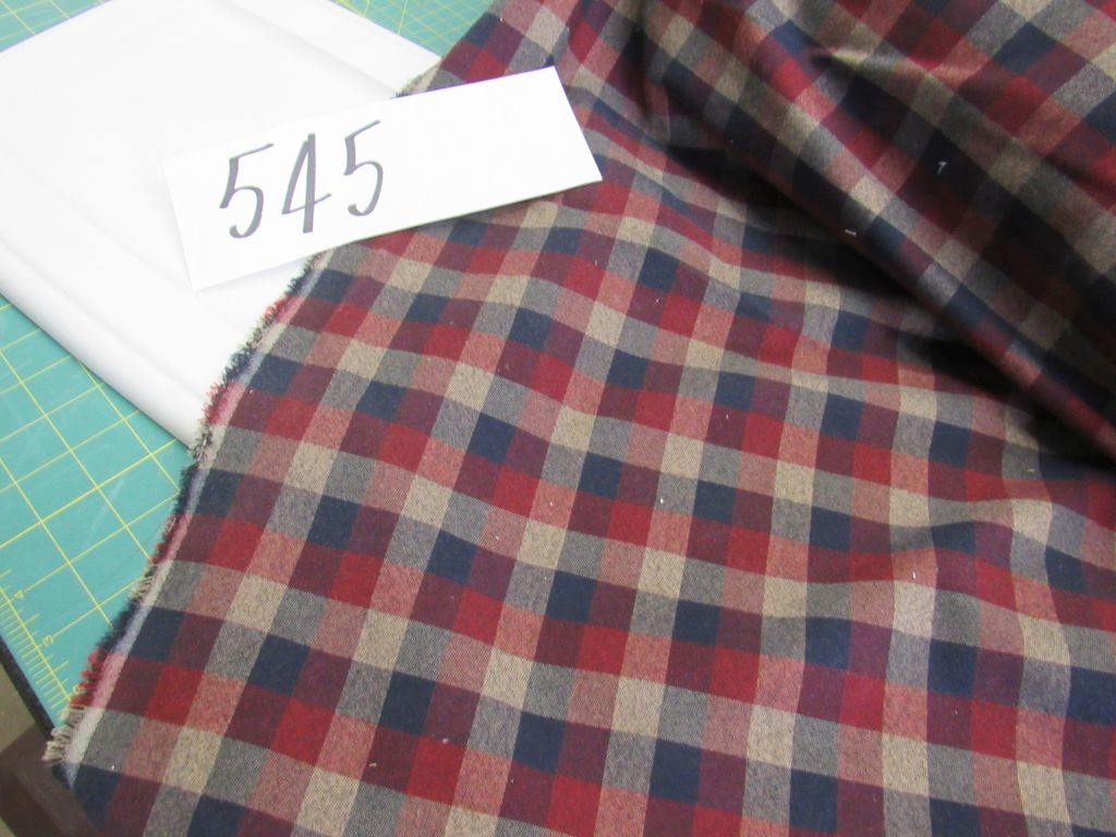 flannel navy red gray selling by the yard