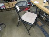 plastic and metal folding chairs