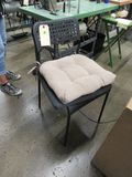 highback plastic and metal chairs