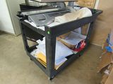 warehouse stocking cart with wheels