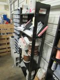 black wood shelving unit 24 inches wide, 60 tall and 10 inches deep