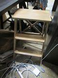 antique wooden step ladder