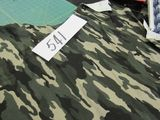 green olive drab camo fabric (roll brown and roll of green selling by the yard
