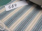 crème fabric with blue fabric  selling by the yard