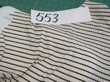 white and black stripe fabric selling by the linear yard