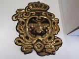 Gold sequin crown emblem applique 9