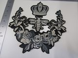 Silver embroidered crown emblem 9