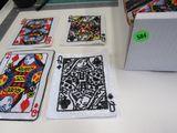 sequin queen card appliques 3 different suits colorful 6