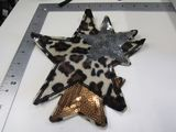 leopard and gold shooting star sequin and fuzzy 9