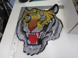 embroidered tiger head 12 inch patch