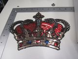 sequin crown 10 inch patch