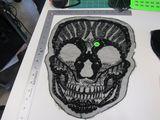 black skull applique approx 14 inch