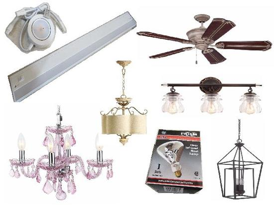 Lighting Fixture and Fan Store Inventory