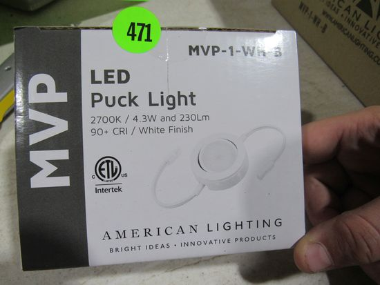 LED puck lights MVP-1-WH-8