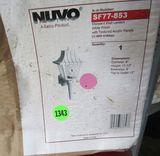 Nuvo #SF77-853 Mansard Wall Lantern White Finish with Textured Acrylic Panels