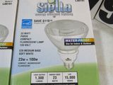 Siella 23 watt par 33 compact flourescent lamp medium base replaces 100w regular bulb in good packag