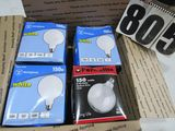 150wwhite globe style lights (1) is clear in good packaging