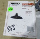 Nuvo hanging black warehouse metal shade pendant fixture 16