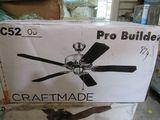 Craftmade ProBuilder fan C52 OB