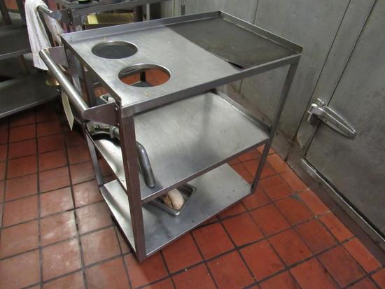 ss serving cart 24x16