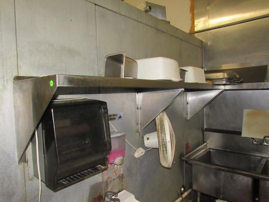 "Stainless kitchen shelf 72"" x 16"""