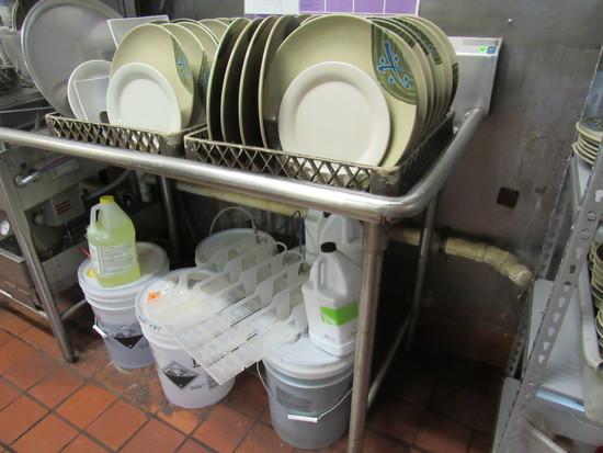"dish wash drain return 48"" x 30"" deep"