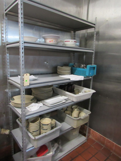 """shelving unit 48"""" x 16"""" x 7' h for food storage"""