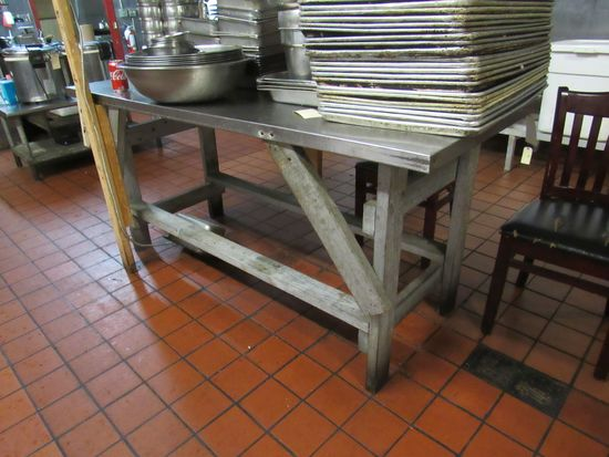 """stainless steel table top 72"""" x 30"""""""