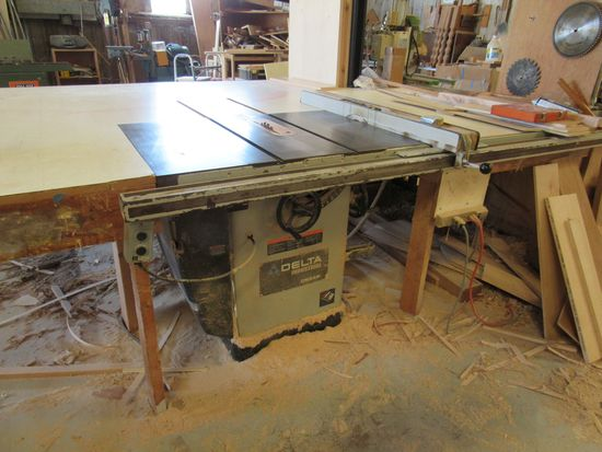 "Delta 5hp 3ph Unisaw 12"" table saw  with Biesemeyer 48"" fence system"