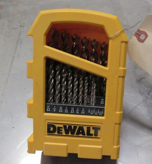 Dewalt drill bits in case