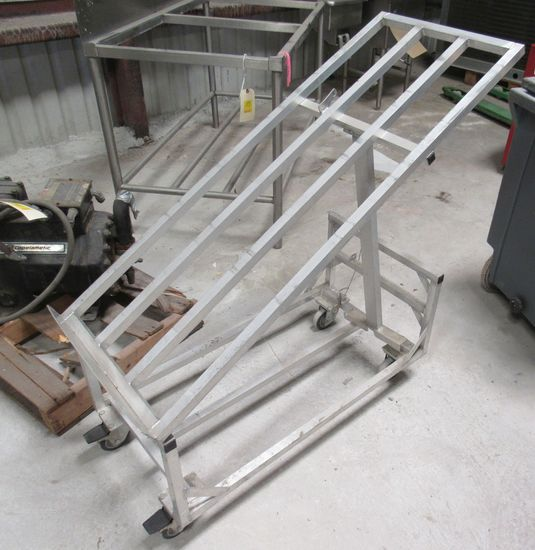aluminum packaged meat cart with adjustable shelf
