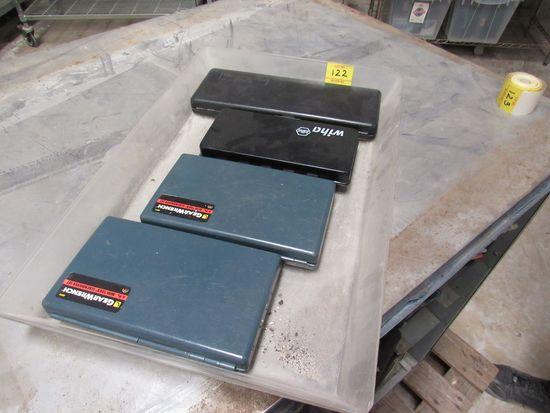 group of tools precsion screw driver set, micrometer, driver set