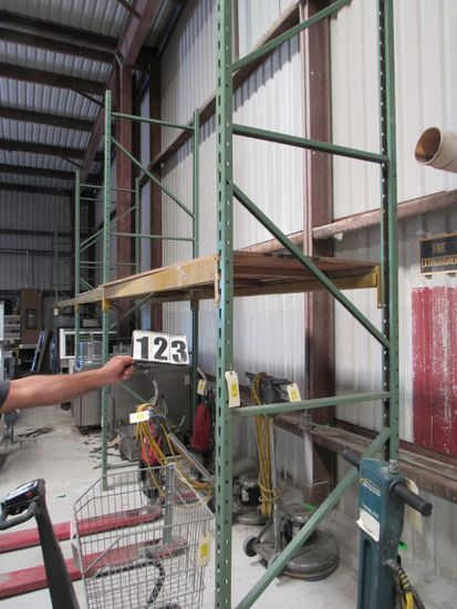 "pallet rack sections 12"" high 3' deep inclued 8 arms, 6 uprights"