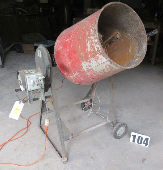 Red Lion mod RLX3  electric cement multi mixer ser 0997 capacity 3.5 cu ft (tests good)